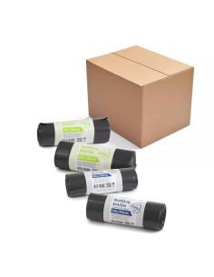 Rinkinys - PUSEI METŲ maišai šiukšlėms standartinei ir mažesnei šiukšlių dėžėms 60L Stiprūs + 30L Stiprūs