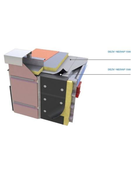 Garo izoliacinė plėvelė DELTA NEOVAP1500, garų pralaidumo koeficientas Sd 1500m, 1.08m x 60m (64.80m2)