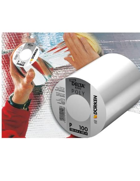 Klijavimo juosta, aliumizuota, DELTA® POLY-BAND P 100, plotis 100mm, rulone 100m