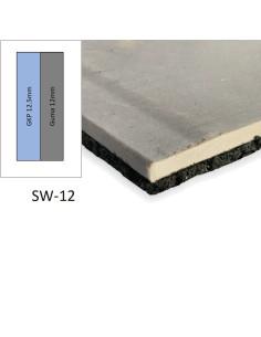 Garso akustinė izoliacinė plokštė SW-12, kompozitas GKP+Guma, 1200x1000mm