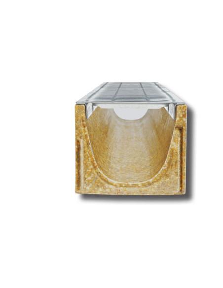 Polimerbetonio latakas (kanalas) SELF 100 su cinkuoto plieno grotelėmis [0.5m], ANRIN