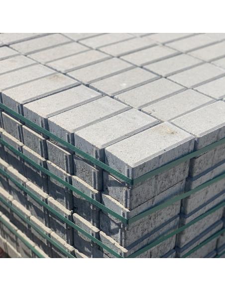 Betoninė grindinio trinkelė Brikers Prizma 6 (200x100x60mm), pilkos spalvos (pakuotėje/paletejė 11.88 kv.m.)