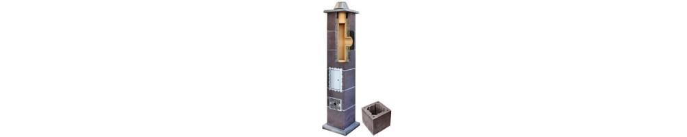 Kaminų sistema be ventiliacinio kanalo