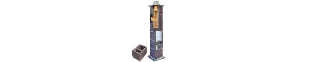 Kaminų sistema su ventiliaciniu kanalu