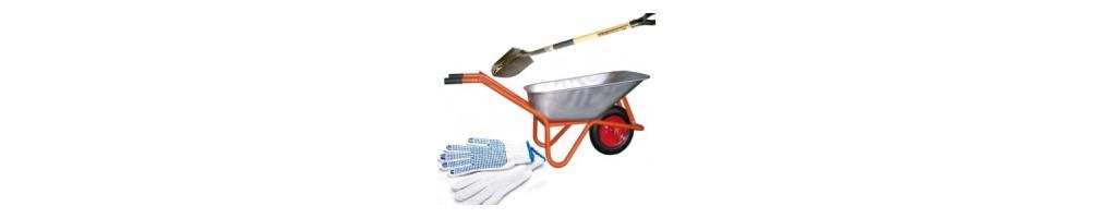 Darbo įrankiai. Mažmenine ir didmenine prekyba statybinėmis medžiagomis.